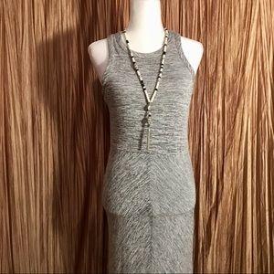Anthropologie Lou & Grey Maxi Gray Dress Size S
